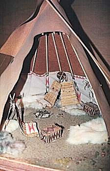 Lakota Tipi Interior